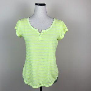 GAP Striped neon yellow shirt